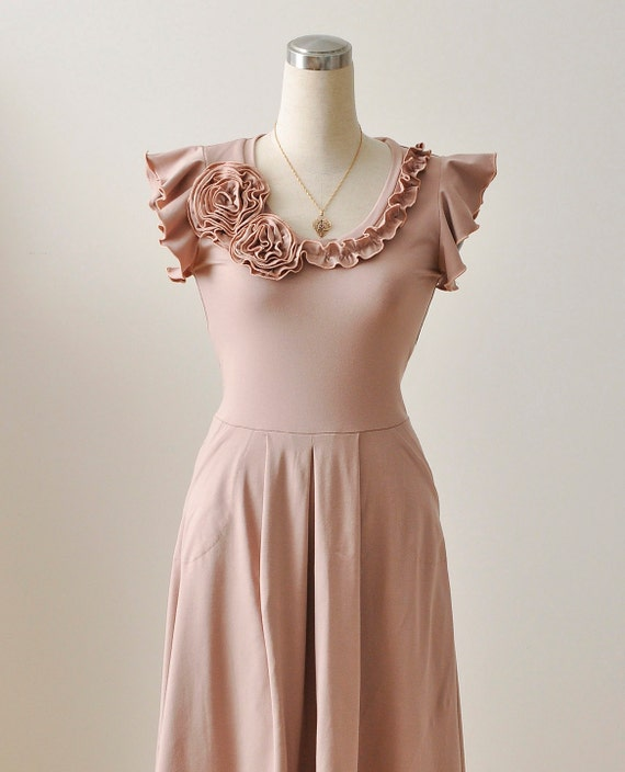 Sample Sale Bridesmaid Dress in Powder, Size 6  Was 165USD European 38