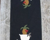 Primitive Pattern Wool Applique Folk Art Table Runner Pattern OFG Team Pineapples And Sheep