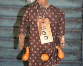Primitive Witch Doll E Pattern Melba The Witch PDF Pattern Halloween Holiday Make Do