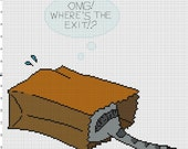 Where's the Exit Cross Stitch Pattern - Professional Pattern Designer and Artist Collaboration