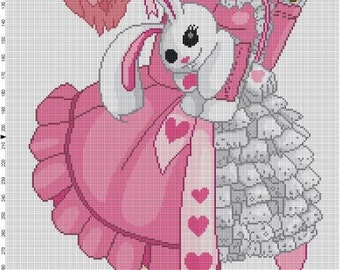 Sweet Lolita Cross Stitch Pattern - Professional Pattern Designer and Artist Collaboration