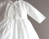 christening dress and jacket in cotton heirloom outfit for babies handmade in England ... the LINCOLN