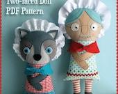 Gramma Wolfie Two-faced Doll PDF Pattern