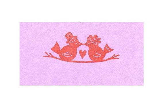 Rubber Stamp Love Bird, Custom, Place Card, adds a personal touch that people appreciate