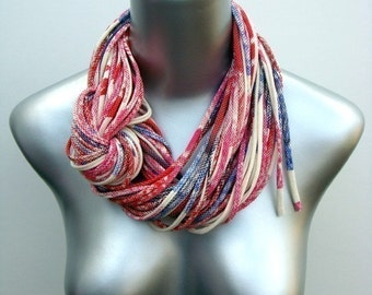 Red Scarf, Circle Scarf, Infinity Scarf, Gift For Her, Necklace, For Her, Birthday Gift For Her, Birthday Gift For Mom, Gift For Sister
