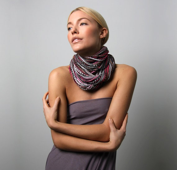 Infinity Scarves, Gift For Her, For Her, Statement Necklace, Burgundy Scarf, Gift Ideas, Gift Ideas for Her, Valentines Gift, Gifts For Him