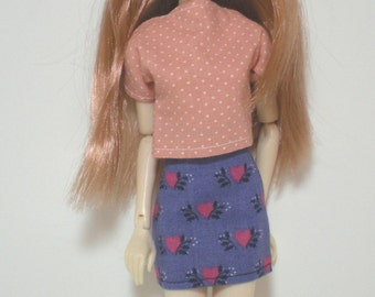 BLOW OUT SALE! Purple Heart Skirt Top Blythe Momoko Only Hearts Club Clothes (G1701)