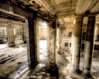 "Detroit Neglected Beauty, Abandoned Building, Surreal Fine Art, Architecture interior color photography ""The Rooms Whisper"""
