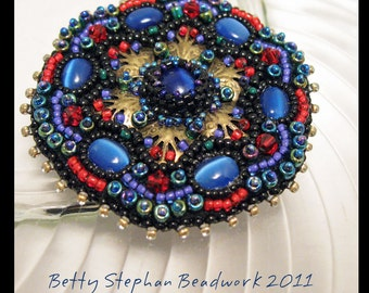 KIT- Blue Cathedral Windows Brooch