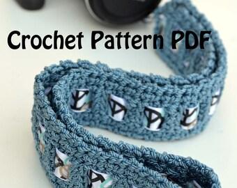 DSLR Nikon, Canon, Camera Neck Strap, Guitar Strap, YOU Customise it  (Crochet Pattern PDF)