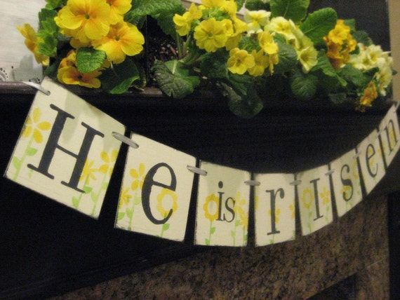 Easter Decoration HE is RISEN Banner