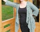 ELSA Crochet Crochet Waterfall Cardigan PDF Pattern