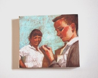 Mother and daughter / Tiny canvas print