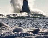 Michigan Crash in Ludington - Michigan Photography - Stock Photography
