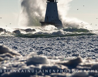 Michigan Crash in Ludington - Michigan Photography - Stock Photography