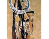 Western Chaps, Rope Drawing by B Bruckner