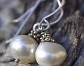 Single Pearl Drop Earrings