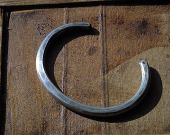 Rugged, Rustic and Extra-Thick SHANE Cuff Bracelet in Solid Sterling Silver - Men's Silver Jewelry