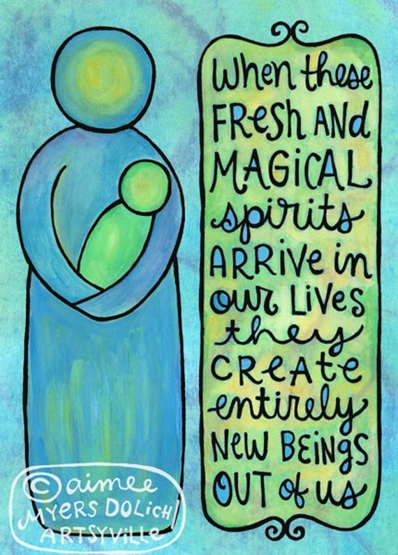 Fresh and Magical Spirits (5x7 doodle print) ***set of 2 reserved for Heather***