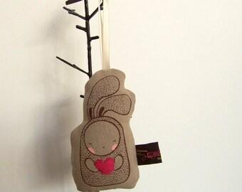 Mini Heart Me Bunny - Hanging decor