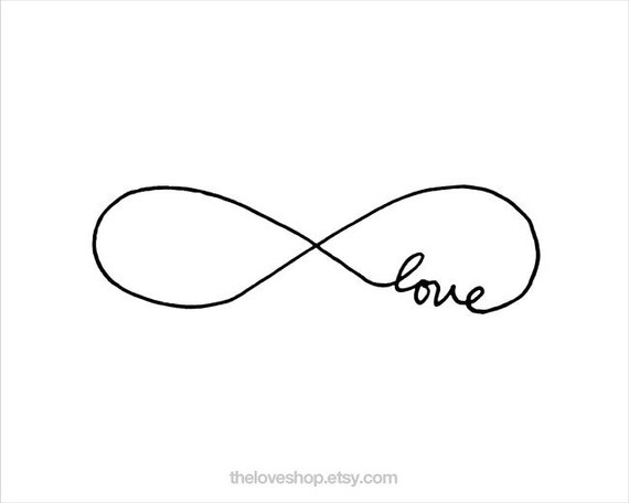Endless Love - 8x10 inch Print on A4 poster (in Crisp White and Black)