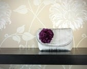 flower girl gift... mini crescent dupioni silk clutch in your colors