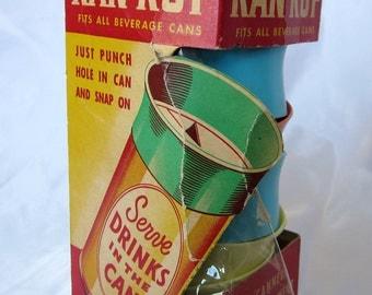 Beer Can Plastic Topper Kan Kup Beverage Bar Ware Beemak Co Unique Vintage Collectible