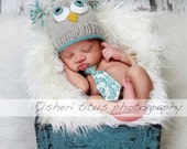 "Lil ""Who"" Owl Baby Hat Beanie          Ships Within 5-7 Days of Purchase US Only"