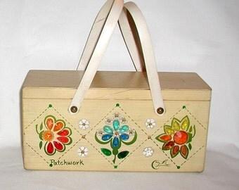 Enid Collins..  Vintage Handbag ...Patchwork .. Wooden Box Bag