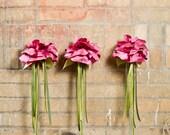 Flower Wand - Silk Fairy Princess Wand in Pink, Purple, White or Orange
