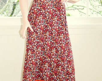 AMAZING Vintage 1970's Patchwork Calico Maxi Dress BY Susan Small London RARE