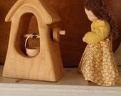 waldorf wooden well  (The Village Well) / hand-carved wooden toy / (waldorf nature table / doll house miniature)