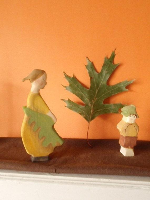 waldorf doll mrs acorn (elsa beskow ) / waldorf nature table