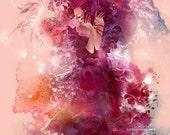 Sweet Roses. angel fairy love art print fantasy goddess