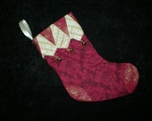 Small Jingle Bell Stocking, Christmas stocking, holiday stocking, gift card holder