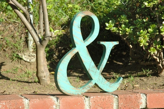 Items similar to ampersand and recyled wood sign you for Ampersand decoration etsy