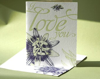 Love Card - Passion Flower