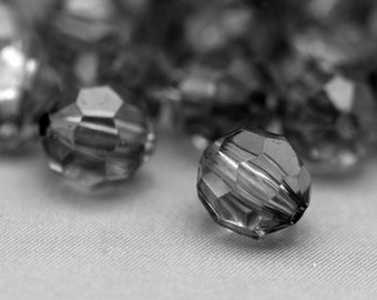 Acrylic Beads Gray Faceted Round 16mm (12)