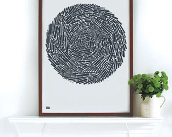 Nest - decorative screen print