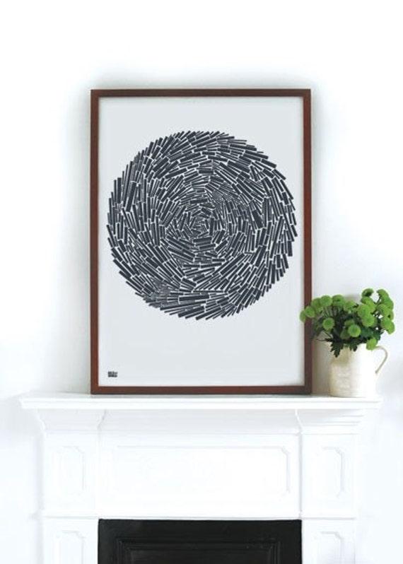Nest - decorative screen print
