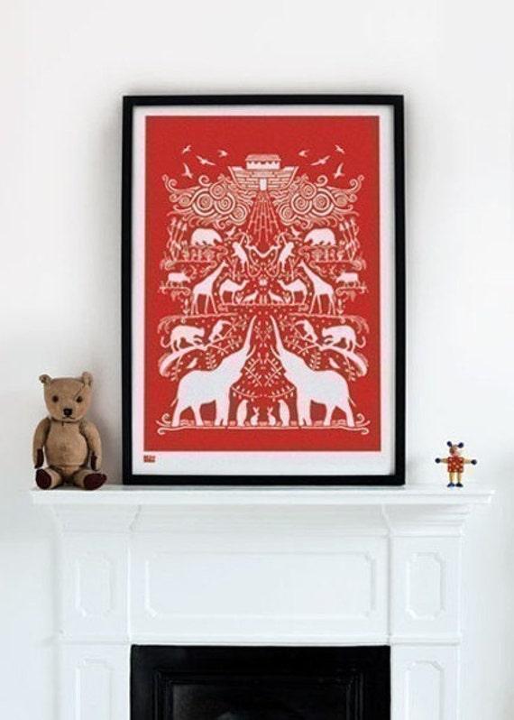 Noah's Ark - decorative screen print
