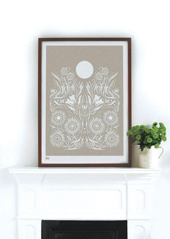 Moonlight - decorative screen print
