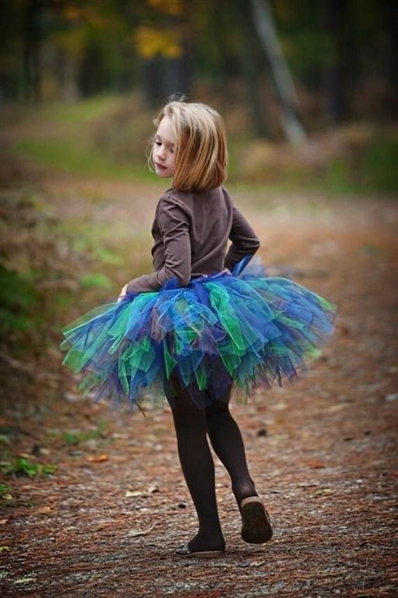 Petite Peacock Tutu - SEWN and Super FULL - Classic style tutu in 5 FABulous colors -  Beautiful and Unique