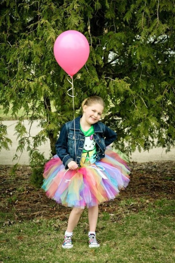 Party Punch -  Ballet style SEWN and Super Full Tulle Tutu Skirt - 6 delicious colors - pink, orange, lime, turquoise, purple, white