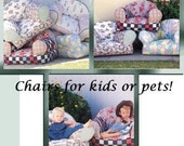 STUFFED CHAIR Sewing Pattern - Child Chair Dog Bed ~ LAST One