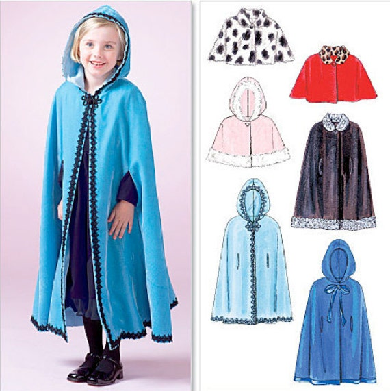 Girl's CAPE & CAPELET Sewing Pattern Girls Fall Winter