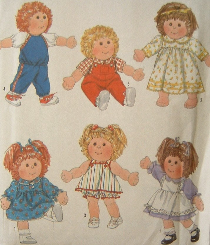 Baby Doll Clothes Sewing Pattern Vintage Cabbage By