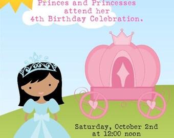 Princess Birthday Party Invitation -- 5x7 Digital File -- Print at Your Favorite Photo Lab