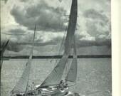 1940s Vintage Photograph - Puget Sound - Wonderful 40s Vintage Book Art Photograph Great Vintage Print for Cottage or Cabin