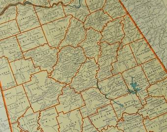 1937 State Map Alabama - Vintage Antique Map Great for Framing